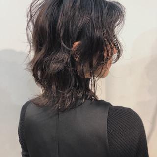 黒髪 ナチュラル ミディアム ヘアアレンジ ヘアスタイルや髪型の写真・画像