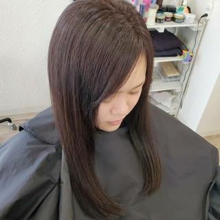 縮毛矯正ストカール 艶髪 ナチュラル ロング ヘアスタイルや髪型の写真・画像