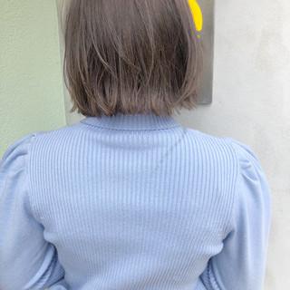 ゆるふわ ヘアアレンジ ボブ アンニュイほつれヘア ヘアスタイルや髪型の写真・画像