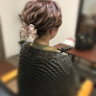 ショート ヘアセット アップスタイル ショートヘアアレンジ ヘアスタイルや髪型の写真・画像 ヘアスタイルや髪型の写真・画像