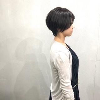 小顔ショート ベリーショート ショート ナチュラル ヘアスタイルや髪型の写真・画像