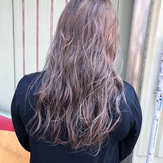 ハイライト ロング ナチュラル ヘアアレンジ ヘアスタイルや髪型の写真・画像