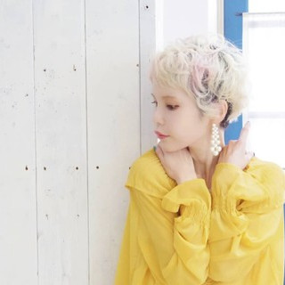簡単ヘアアレンジ 外国人風 フェミニン ベリーショート ヘアスタイルや髪型の写真・画像