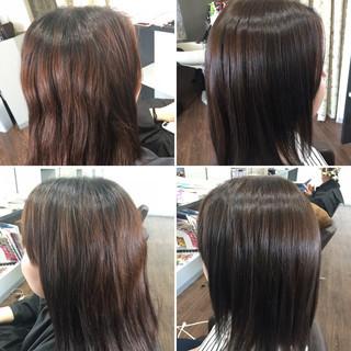 コントラストハイライト 大人ハイライト ロング 髪質改善トリートメント ヘアスタイルや髪型の写真・画像