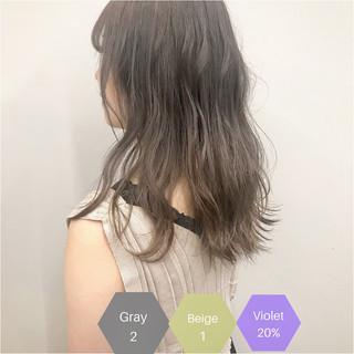 ハイトーンカラー ダブルカラー サロンモデル フェミニン ヘアスタイルや髪型の写真・画像