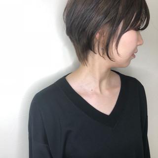 ショートヘア 大人ショート ボブ グレージュ ヘアスタイルや髪型の写真・画像 ヘアスタイルや髪型の写真・画像