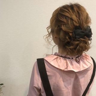 成人式 ヘアアレンジ アップスタイル ミディアム ヘアスタイルや髪型の写真・画像 ヘアスタイルや髪型の写真・画像