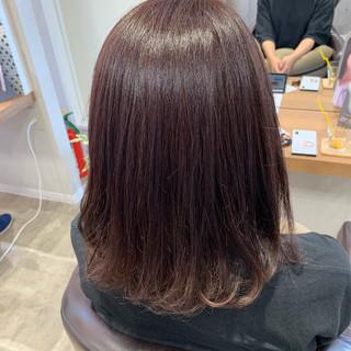 ワンカール 可愛い 艶髪 フェミニン ヘアスタイルや髪型の写真・画像