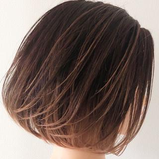 ナチュラルグラデーション ボブ デート ナチュラル ヘアスタイルや髪型の写真・画像