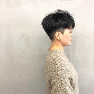 刈り上げショート ブルー ショート ナチュラル ヘアスタイルや髪型の写真・画像