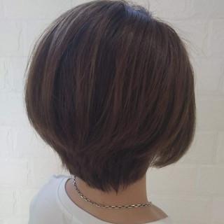 ナチュラル アッシュ ショート ハンサムショート ヘアスタイルや髪型の写真・画像