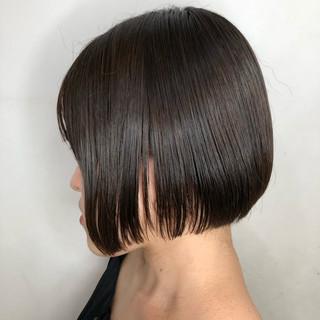 暗髪 アッシュグレー ボブ アッシュ ヘアスタイルや髪型の写真・画像