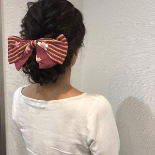 和装 アップスタイル フェミニン ヘアアレンジ ヘアスタイルや髪型の写真・画像 ヘアスタイルや髪型の写真・画像