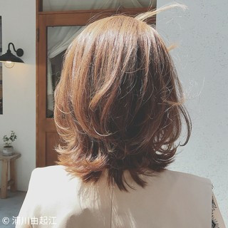 デート 大人かわいい ナチュラル ミディアム ヘアスタイルや髪型の写真・画像