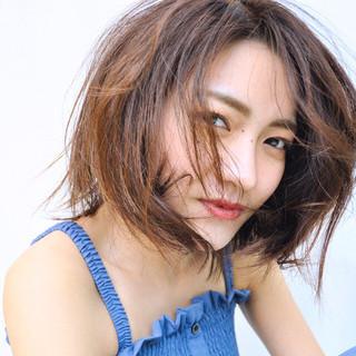 可愛い 大人ヘアスタイル ミディアム フェミニン ヘアスタイルや髪型の写真・画像
