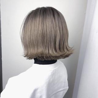 ミルクティーグレー ボブ ミルクティー ミルクベージュ ヘアスタイルや髪型の写真・画像