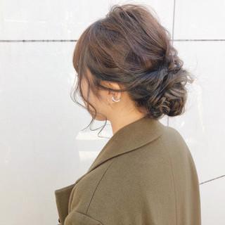 ナチュラル デート ヘアアレンジ アンニュイほつれヘア ヘアスタイルや髪型の写真・画像 ヘアスタイルや髪型の写真・画像