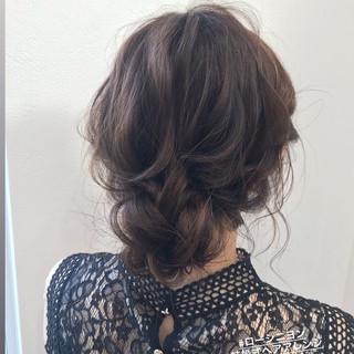 ヘアアレンジ ハイライト セミロング デート ヘアスタイルや髪型の写真・画像