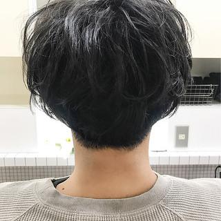 ナチュラル 黒髪 メンズ メンズパーマ ヘアスタイルや髪型の写真・画像