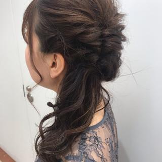 ナチュラル 結婚式ヘアアレンジ ヘアセット ゆるふわセット ヘアスタイルや髪型の写真・画像