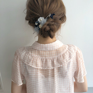 デート オフィス 結婚式 エレガント ヘアスタイルや髪型の写真・画像
