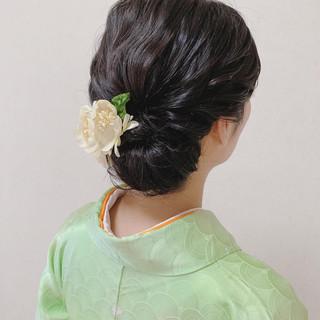 エレガント 着物 結婚式 ヘアアレンジ ヘアスタイルや髪型の写真・画像