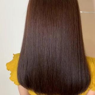 ロング 髪質改善トリートメント 美髪矯正 トリートメント ヘアスタイルや髪型の写真・画像