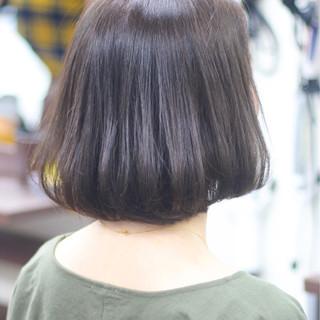 圧倒的透明感 ボブ ナチュラル 透明感カラー ヘアスタイルや髪型の写真・画像
