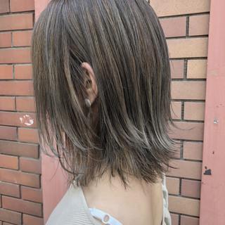 ダブルカラー エフォートレス 外国人風カラー ミディアム ヘアスタイルや髪型の写真・画像