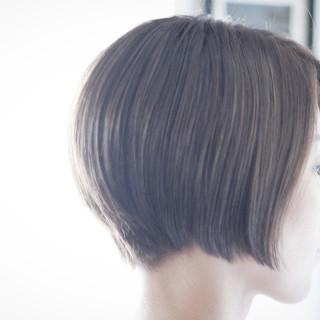 ボブ ラベンダーアッシュ パープル ショートボブ ヘアスタイルや髪型の写真・画像