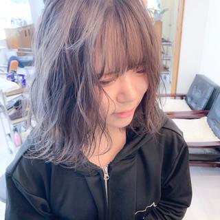 圧倒的透明感 パープルアッシュ パープル ガーリー ヘアスタイルや髪型の写真・画像