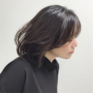福岡市 エレガント ミディアム 大人カジュアル ヘアスタイルや髪型の写真・画像