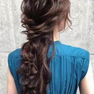 ロング ヘアアレンジ ゆるナチュラル 大人かわいい ヘアスタイルや髪型の写真・画像