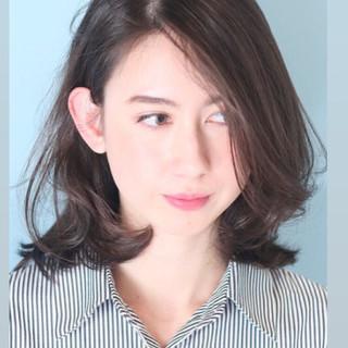 大人可愛い オフィス デート 白髪染め ヘアスタイルや髪型の写真・画像