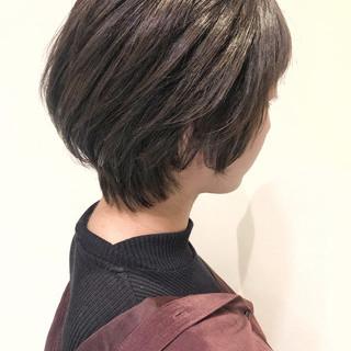 外国人風カラー ショート ショートヘア ミニボブ ヘアスタイルや髪型の写真・画像