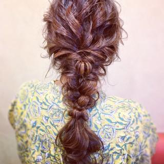簡単ヘアアレンジ ヘアアレンジ お呼ばれ 編みおろし ヘアスタイルや髪型の写真・画像 ヘアスタイルや髪型の写真・画像