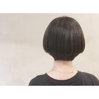 ナチュラル 髪質改善 大人可愛い ミニボブ ヘアスタイルや髪型の写真・画像
