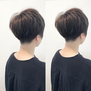 小顔 似合わせ ショート 刈り上げ ヘアスタイルや髪型の写真・画像
