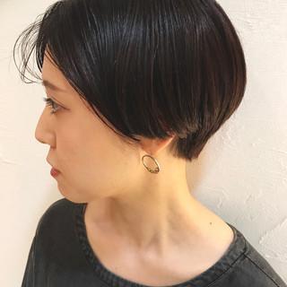 ショート かっこいい アッシュバイオレット ショートボブ ヘアスタイルや髪型の写真・画像
