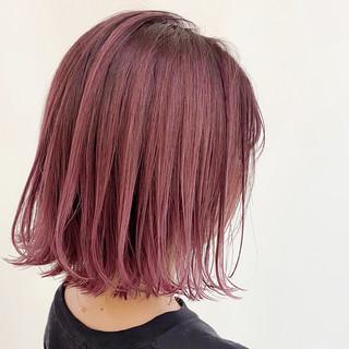 ナチュラル 透明感 ラズベリーピンク ピンクラベンダー ヘアスタイルや髪型の写真・画像