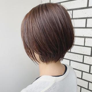 ショートヘア 小顔ショート モテボブ ミニボブ ヘアスタイルや髪型の写真・画像