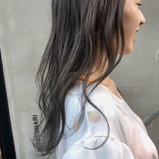 グレージュ スモーキーカラー 外国人風カラー 結婚式 ヘアスタイルや髪型の写真・画像