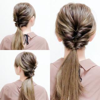 簡単ヘアアレンジ セルフヘアアレンジ ヘアアレンジ ロング ヘアスタイルや髪型の写真・画像 ヘアスタイルや髪型の写真・画像