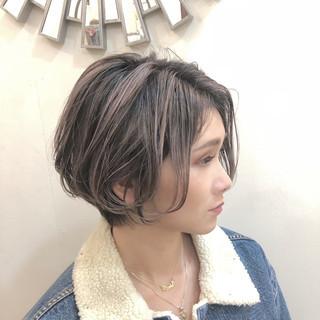 グラデーションカラー ハイライト バレイヤージュ ボブ ヘアスタイルや髪型の写真・画像 ヘアスタイルや髪型の写真・画像
