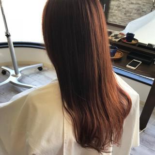 ピンクブラウン ロングヘア エレガント ロング ヘアスタイルや髪型の写真・画像