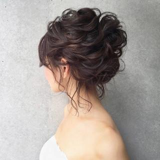 結婚式 アンニュイ ナチュラル ゆるふわ ヘアスタイルや髪型の写真・画像
