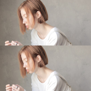 ショートボブ ボブ ナチュラル ヘアアレンジ ヘアスタイルや髪型の写真・画像