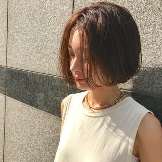 透け感ヘア ボブヘアー ボブ 透明感カラー ヘアスタイルや髪型の写真・画像