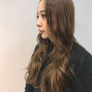 ゆるナチュラル ロング 大人可愛い ナチュラル可愛い ヘアスタイルや髪型の写真・画像