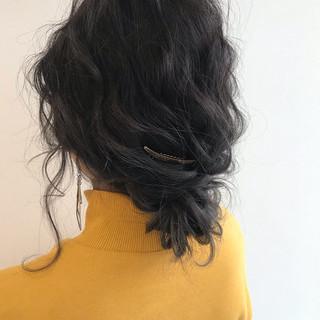 ミディアム コンサバ ヘアアレンジ 簡単ヘアアレンジ ヘアスタイルや髪型の写真・画像